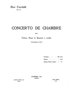 Камерный концерт, Op.26: Партитура by Блэр Фэйрчайлд