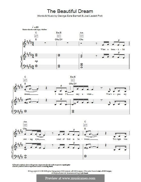The Beautiful Dream: Для голоса и фортепиано (или гитары) by Joel Pott, George Ezra Barnett