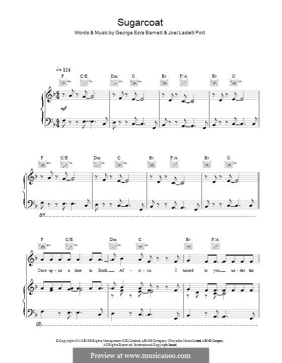 Sugarcoat: Для голоса и фортепиано (или гитары) by Joel Pott, George Ezra Barnett