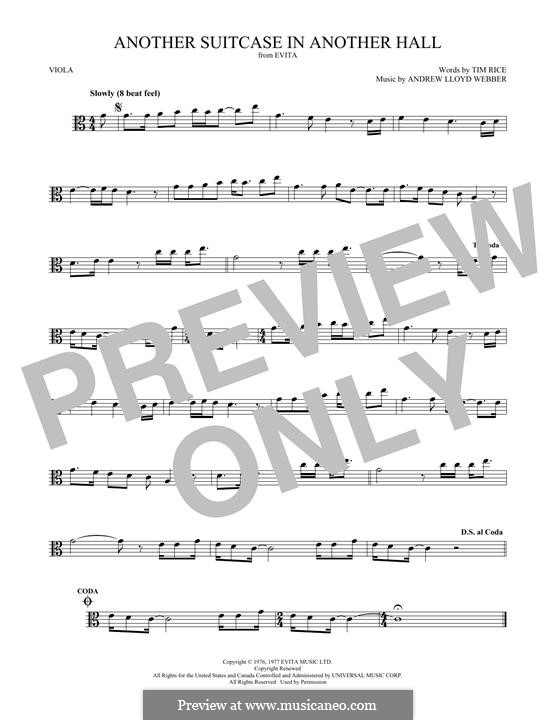 Another Suitcase in Another Hall: For viola by Andrew Lloyd Webber