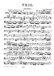 Фортепианное трио ми минор, Op.19: Партия виолончели by Луис Гласс