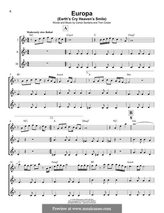 Europa (Santana): Для укулеле by Carlos Santana