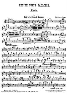 Petite Suite Gauloise, Op.90: Партии by Луи Теодор Гуви