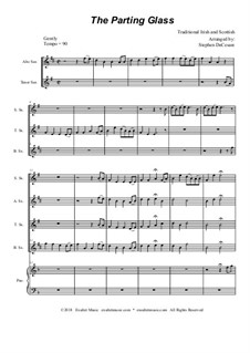 The Parting Glass: For saxophone quartet and piano by folklore