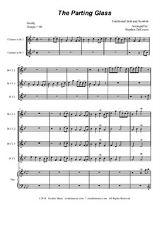 The Parting Glass: For clarinet choir and piano by folklore