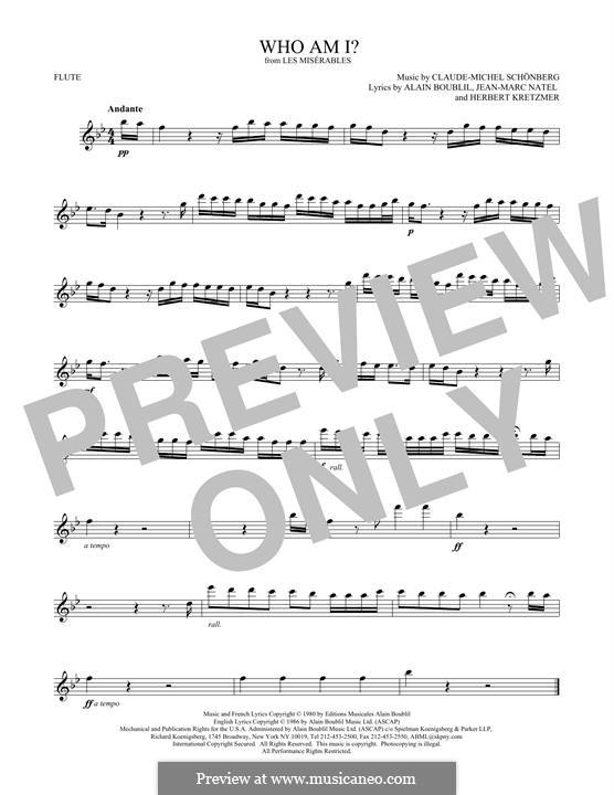 Who am I?: Для флейты by Claude-Michel Schönberg