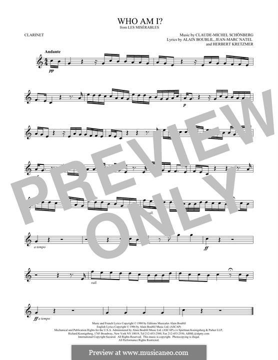 Who am I?: Для кларнета by Claude-Michel Schönberg