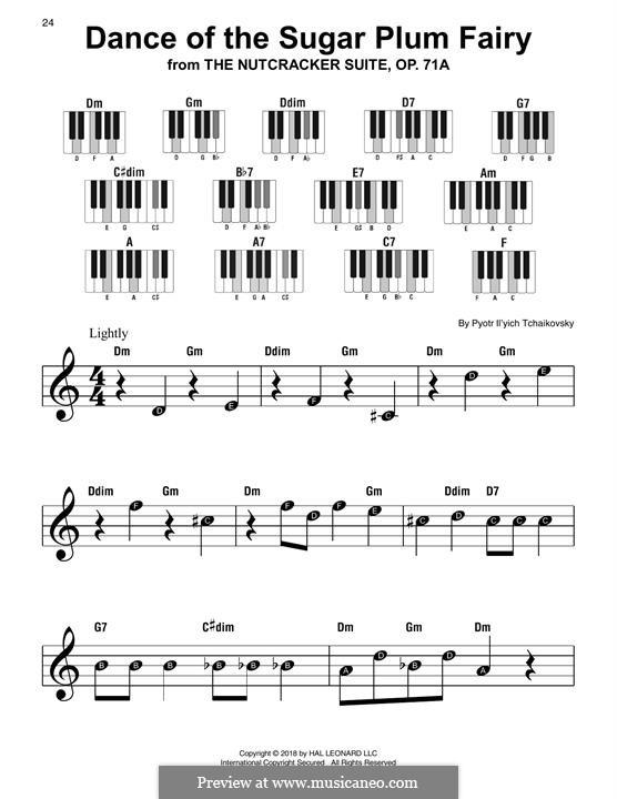 No.3 Танец феи Драже, для фортепиано: Super easy version by Петр Чайковский