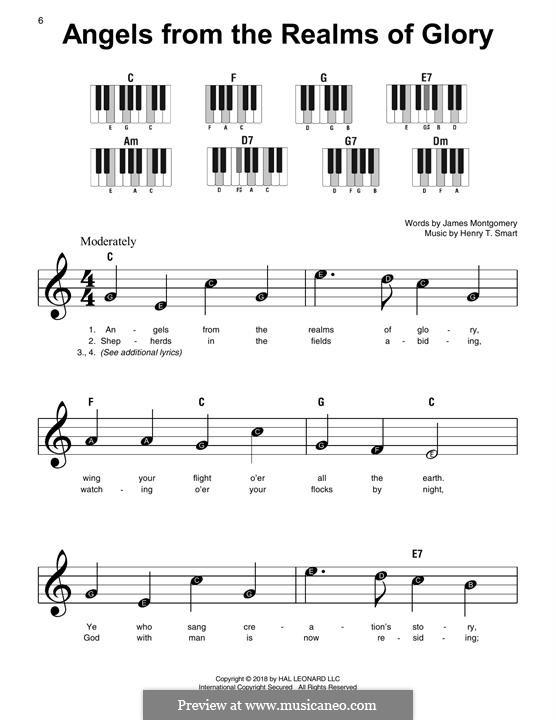 Angels, from the Realms of Glory: Для фортепиано (легкий уровень) by Генри Смарт