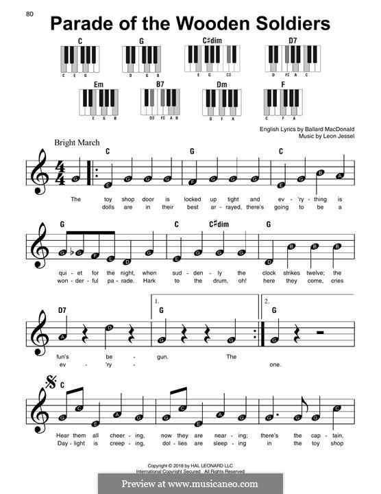 Parade of the Wooden Soldiers: Для фортепиано (легкий уровень) by Leon Jessel