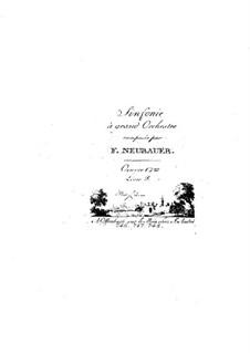 Симфонии для оркестра, Op.12: Том III – партии струнных инструментов by Франц Кристоф Нойбауэр