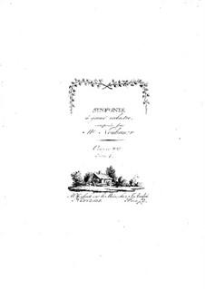 Симфонии для оркестра, Op.8: Том I – партии by Франц Кристоф Нойбауэр