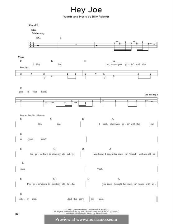 Hey Joe: Мелодия by Billy Roberts
