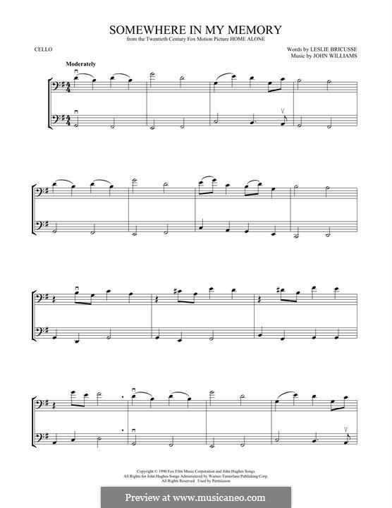 Somewhere in My Memory: Для двух скрипок by John Williams