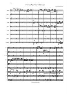 Chinese New Year Celebration: Для струнного оркестра by Дэвид Соломонс