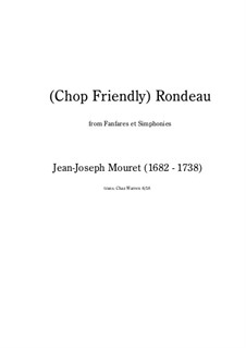 Рондо: For brass quintet (chop friendly version) by Жан-Жозеф Муре