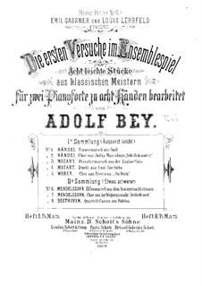 Восемь легких пьес: Тетрадь II – партия второго фортепиано by Феликс Мендельсон-Бартольди, Людвиг ван Бетховен