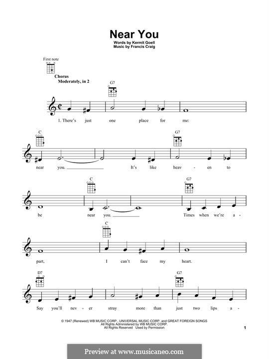 Near You: Для укулеле by Francis Craig