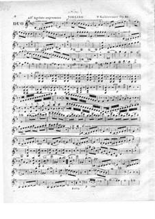 Дуэт для скрипки и фортепиано, Op.49: Партия скрипки by Фридрих Калькбреннер