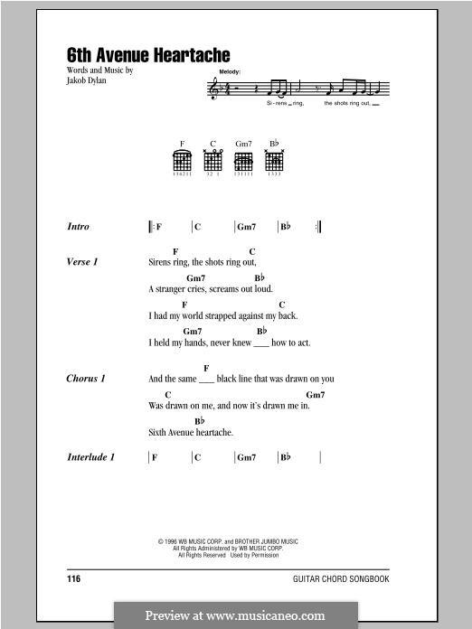 6th Avenue Heartache: Мелодия by Jakob Dylan