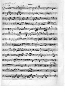 Три струнных квартета, Op.16: Партия виолончели by Федериго Фьориллло