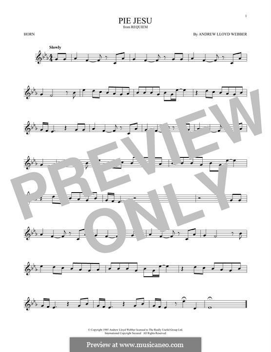 Pie Jesu (from Requiem): For horn by Andrew Lloyd Webber