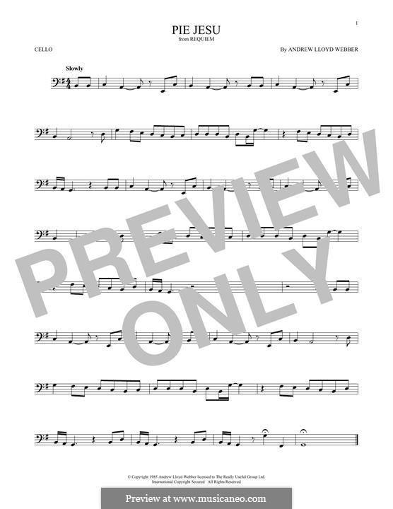 Pie Jesu (from Requiem): Для виолончели by Andrew Lloyd Webber