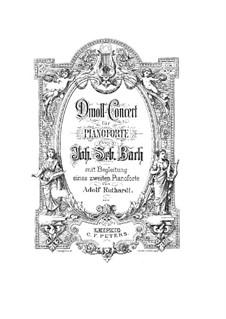 Концерт для клавесина и струнных инструментов No.1 ре минор, BWV 1052: Переложение для фортепиано в четыре руки by Иоганн Себастьян Бах