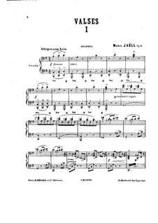 Двенадцать вальсов и финал для фортепиано в четыре руки, Op.8: Двенадцать вальсов и финал для фортепиано в четыре руки by Мари Яэлль