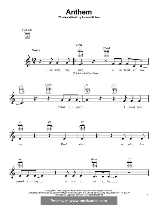 Anthem: Для укулеле by Leonard Cohen