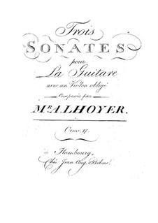 Три сонаты для гитары и скрипки, Op.17: Три сонаты для гитары и скрипки by Антуан де Луайе