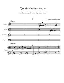 Квинтет-юмореска для флейты, гобоя, кларнета, фагота и фортепиано: Квинтет-юмореска для флейты, гобоя, кларнета, фагота и фортепиано by Георгий Гачечиладзе