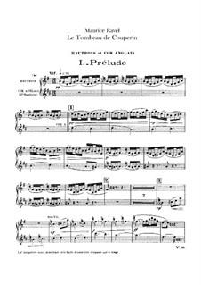 Гробница Куперена для оркестра, M.68a: Партии гобоя и английского рожка by Морис Равель