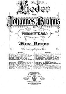 Избранные песни: Тетрадь II, для фортепиано by Иоганнес Брамс
