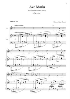 Аве Мария: For soprano and piano by Жюль Массне