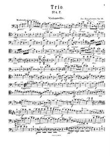 Фортепианное трио No.4 фа мажор, Op.191: Партия виолончели by Йозеф Габриэль Райнбергер