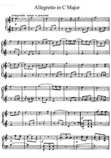 Аллегретто до мажор: Для фортепиано by Николай Римский-Корсаков