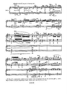 Концерт для фортепиано с оркестром No.2, Op.19: Movement II, for piano four hands by Людвиг ван Бетховен