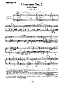 Концерт для фортепиано с оркестром No.2, Op.19: Movement I, for piano four hands by Людвиг ван Бетховен