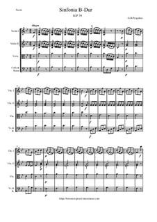Sinfonia B-Dur, P.39: Sinfonia B-Dur by Джованни Баттиста Перголези
