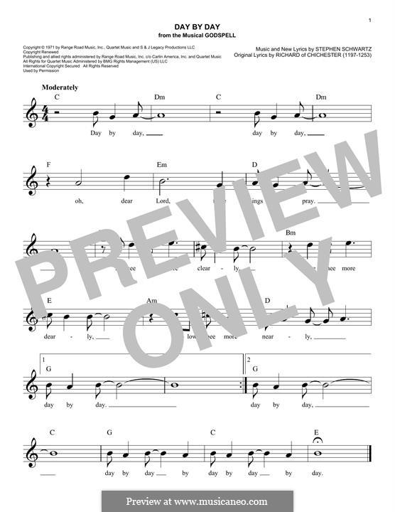 Day By Day: Мелодия by Stephen Schwartz