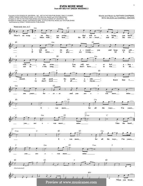 Even More Mine (Rita Wilson): Мелодия by Darrell Brown, Nathan Chapman