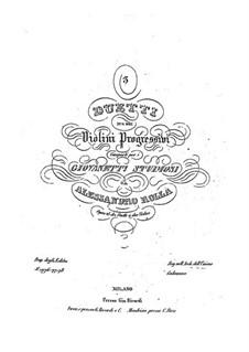 Три дуэта для двух скрипок: Три дуэта для трех скрипок by Алессандро Ролла