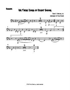 We Three Kings of Orient Swing: For easy woodwind quartet – bassoon part by John H. Hopkins Jr.