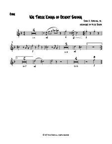 We Three Kings of Orient Swing: For easy woodwind quartet - oboe part by John H. Hopkins Jr.
