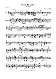 Clair de Lune - Mazurka, Op.136: Clair de Lune - Mazurka by Огюст Зурфлю