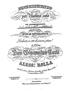 Дивертисмент для скрипки и фортепиано, BI 429: Дивертисмент для скрипки и фортепиано by Алессандро Ролла