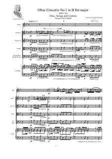 Oboe concerto B-Dur, HWV 301: Score, parts by Георг Фридрих Гендель