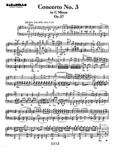 Концерт для фортепиано с оркестром No.3, Op.37: Movement I, for piano four hands by Людвиг ван Бетховен