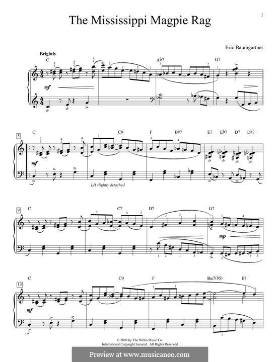 Mississippi Magpie Rag: Для фортепиано by Eric Baumgartner